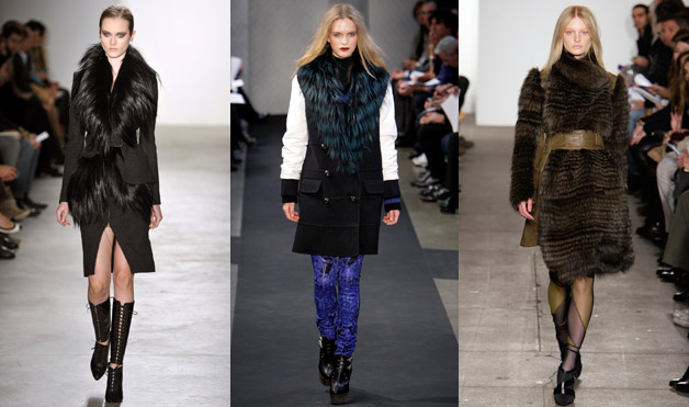 Various of looks of fur on the runway in 2012 (photo: courtesy of Elle.com).