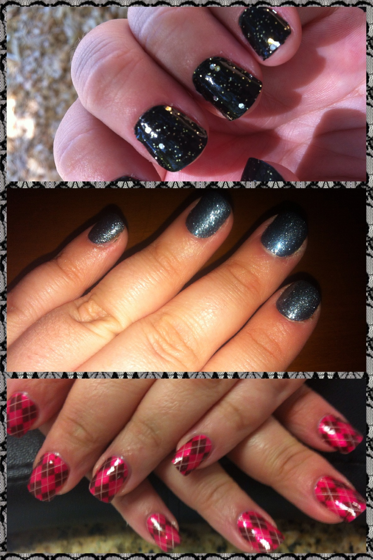Various looks created with Sally Hansen Real Polish Nail Strips (photos: Michelle Turner)