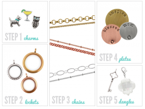 5 steps to creating your own Origami Owl locket via www.origamiowl.com