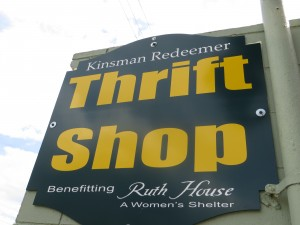 UMATILLA, Florida (April 11, 2013) The sign outside of the Thrift Store that benefits The Ruth House. (Photo: Michelle Turner).